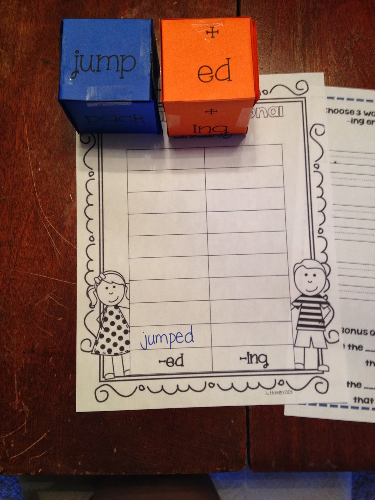 First Grade And Flip Flops Inflectional Endings A Quick