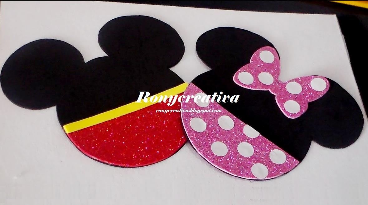 Ronycreativa blog de manualidades: Cómo hacer invitaciones de Mickey ...