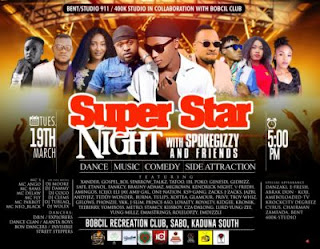 Event: Superstar Night With Spoke Gizzy & Friends || Tues. 19th March 2019