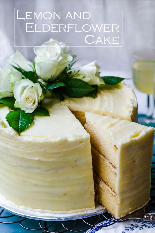 Lemon and Elderflower cake  image
