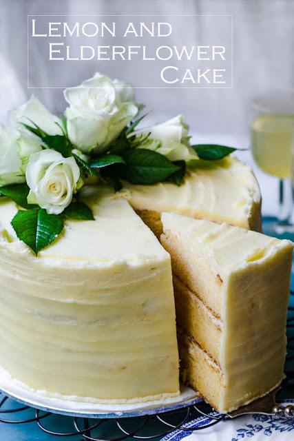 Lemon and Elderflower cake  image