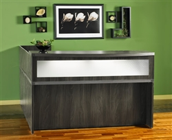 Gray Reception Desk