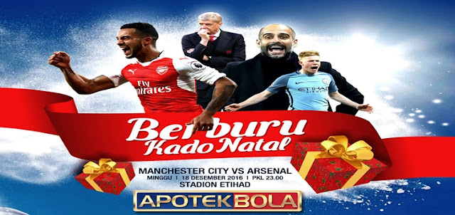 Prediksi Pertandingan Manchester City vs Arsenal 18 Desember 2016