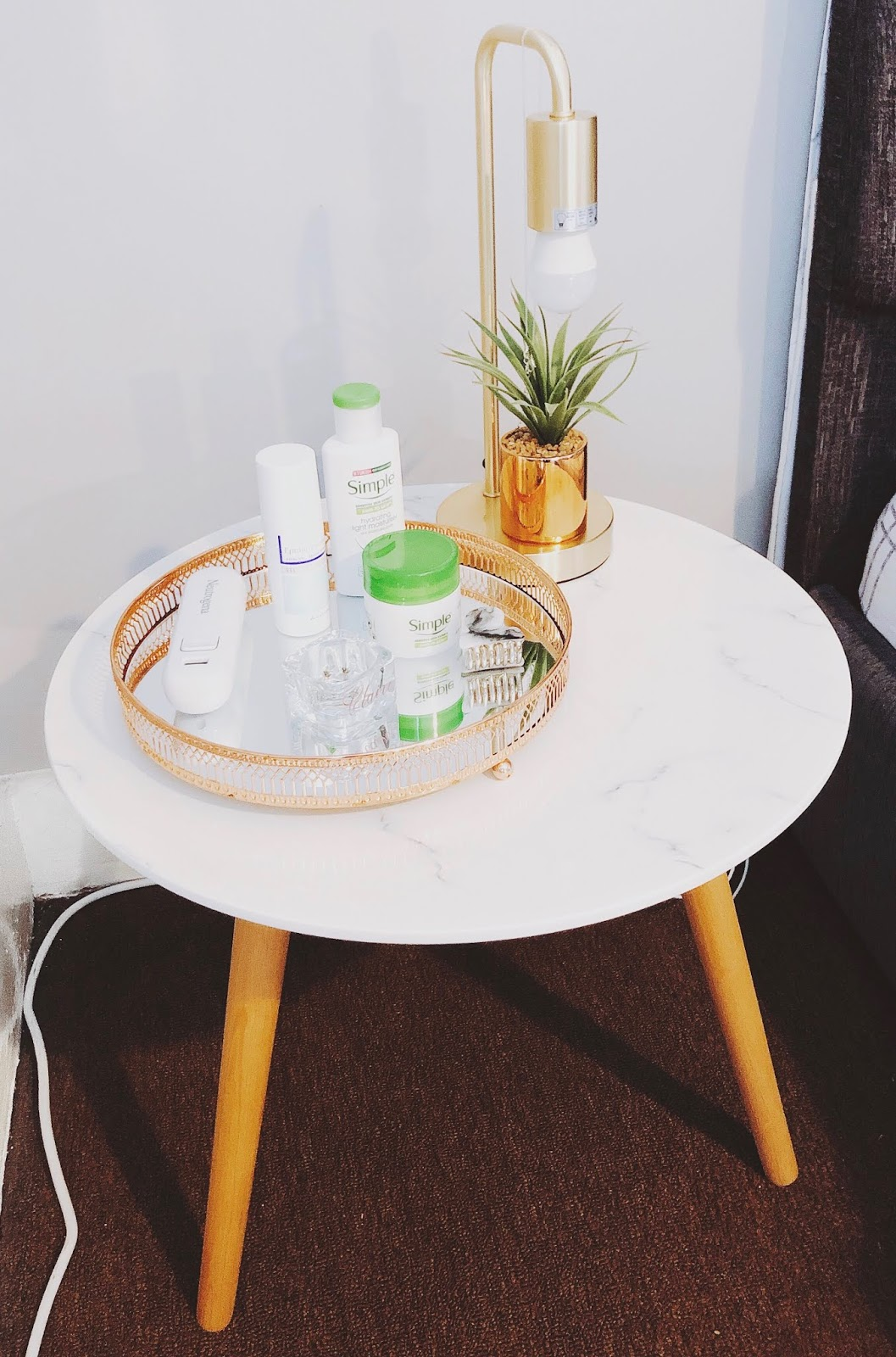 b&m, table, bedside table, bedside