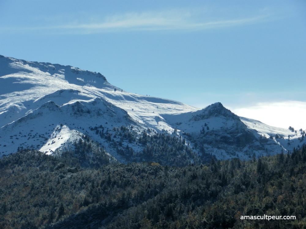 La Bernarde sous la neige - Alpes de Haute Provence
