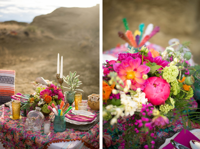 Mexican themed decor / Photography: Font & Figure / Floral: Mac's Floral / Rentals: Hutch Event Rentals