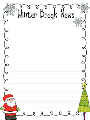writing activities for after christmas break