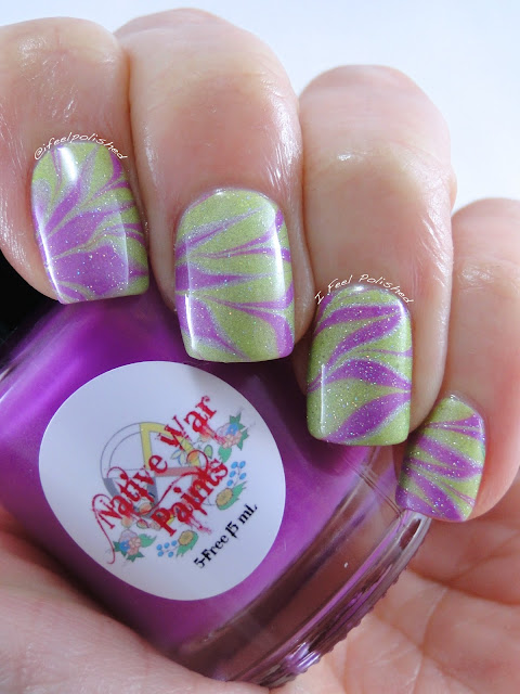 Purple and Yellow Water Marble