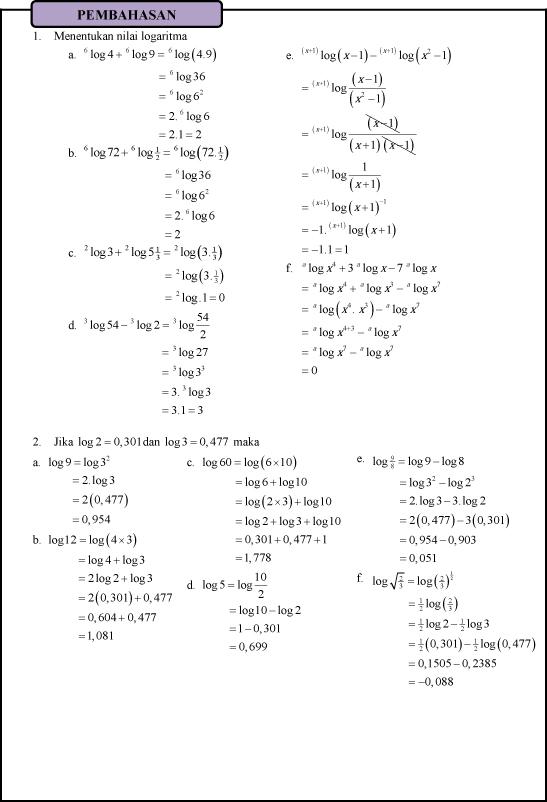 Contoh Soal Matematika Kelas 10 Semester 1 Dan Penyelesaiannya