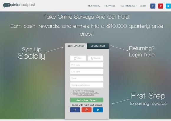 شرح طريقة ربح وكسب المال من موقع  Opinionoutpost إستطلاعات الرأي