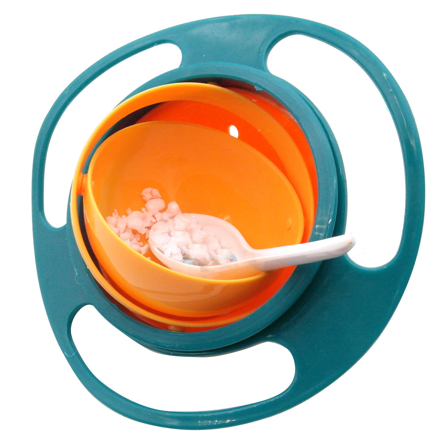 Gyro Bowl is also a special, educational toy for kids which is smartly designed to stimulate the baby to discover and enjoy eating in the bowl.