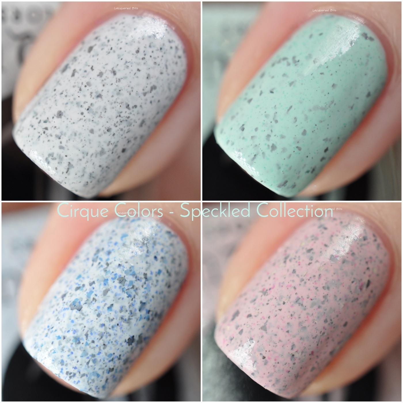 Cirque Colors  Speckled collection- Swatches & Review