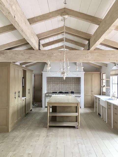 image result for kitchen white oak Malibu Mediterranean Modern Farmhouse Giannetti Home