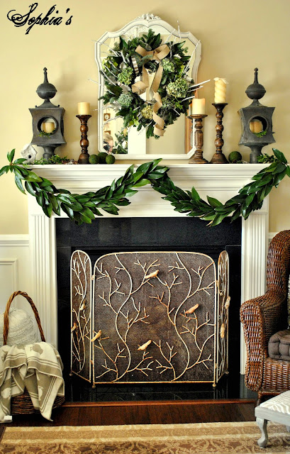 Sophia S Simple Garden Inspired Christmas Mantel