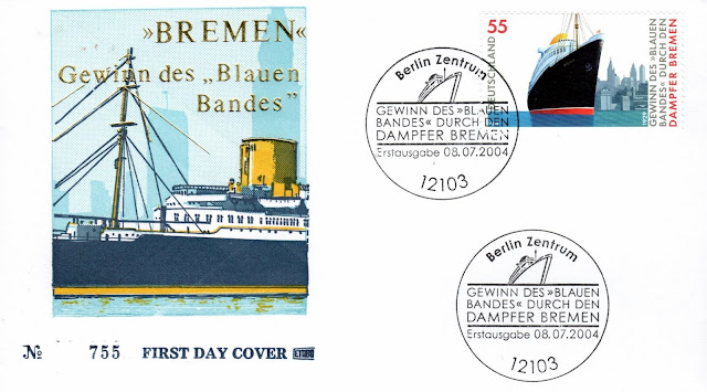 ss ts Bremen first day cover - ersttagsbrief 08. August 2004