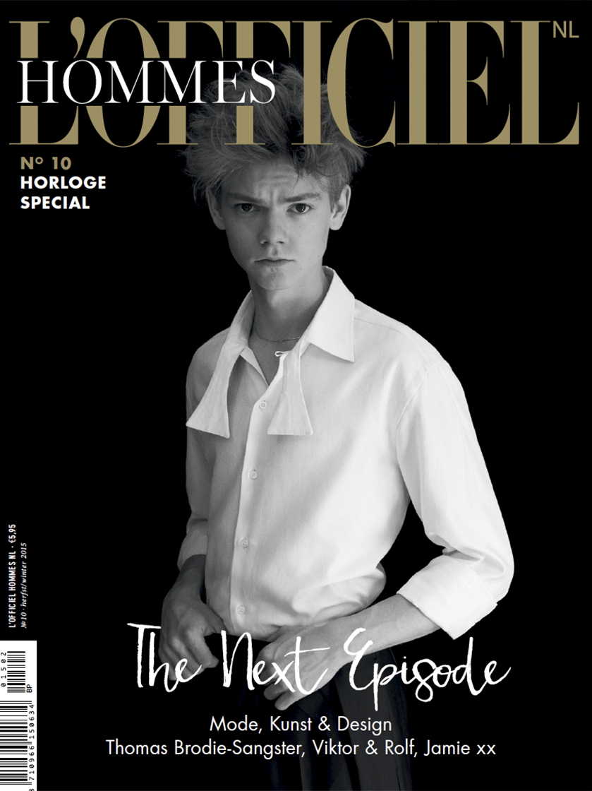 b0ea5fe9b9 Thomas Brodie-Sangster for L'Officiel Hommes NL Magazine, 2015 ...
