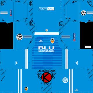 Valencia CF 2018/19 UCL Kit - Dream League Soccer Kits