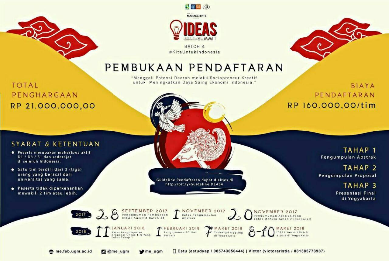 Indonesia Studentpreneur Summit 2018 di UGM   Info Lomba 2018