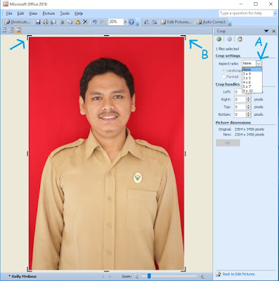 edit aspect ratio microsoft office manager