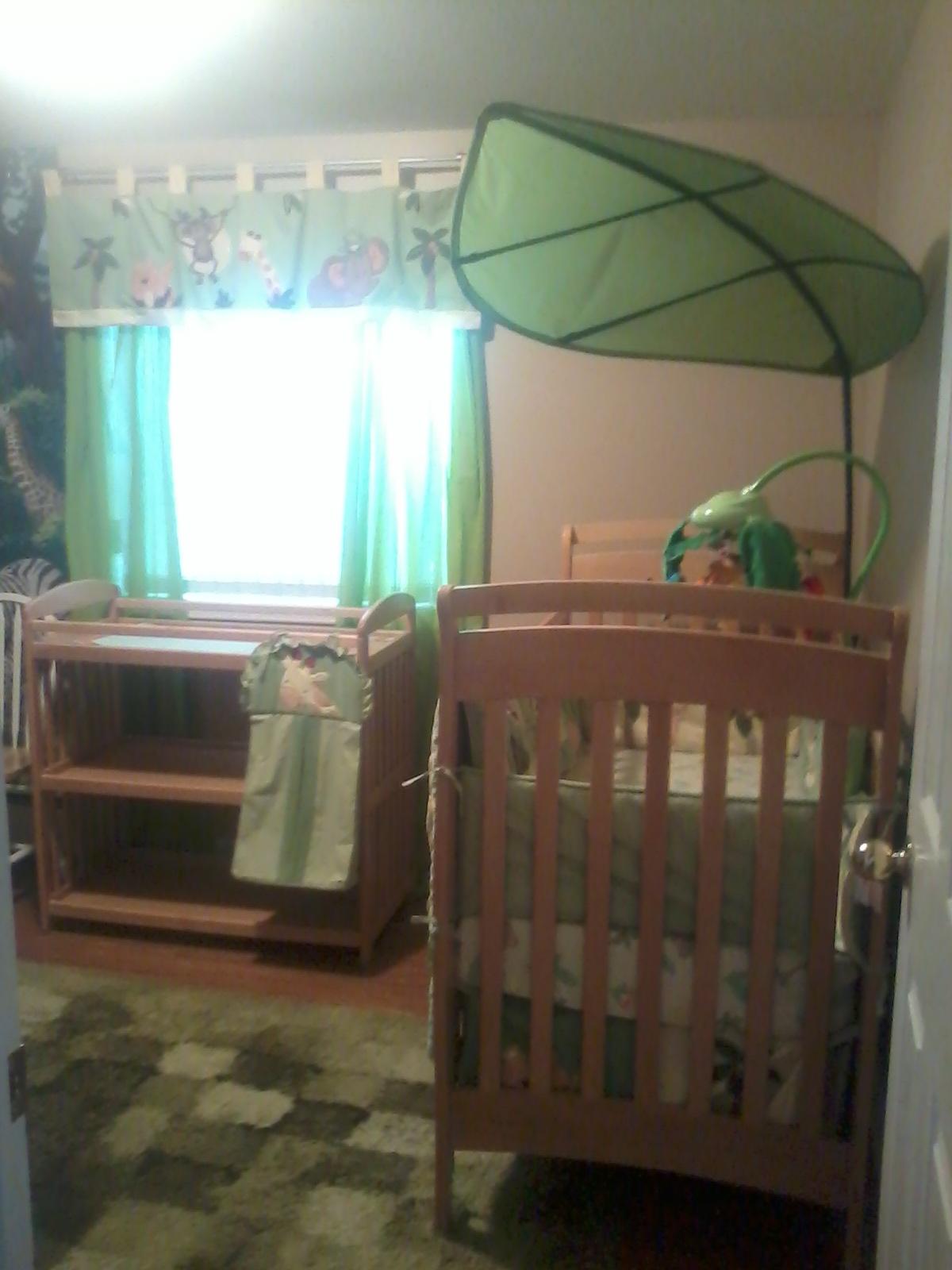Shrunken Giraffe Crafts Jungle Themed Nursery Completed