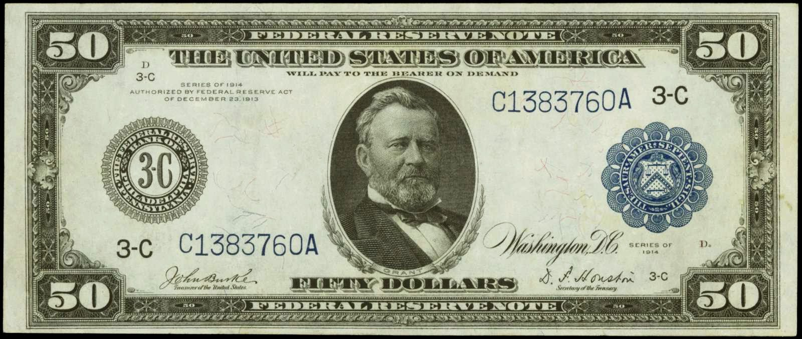 1914 50 Dollar Federal Reserve Note
