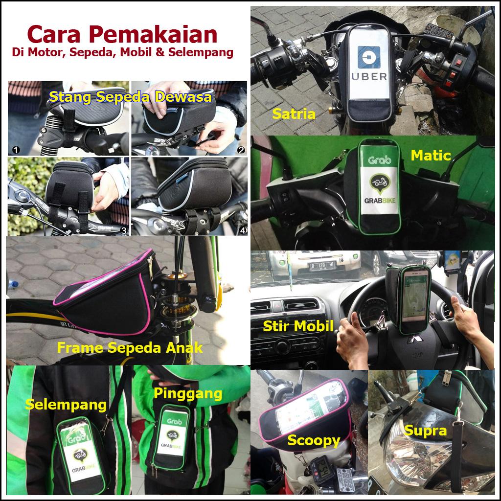 All In 1 Tas Holder Handphone Untuk Spidometer Spion Stang Sepeda Hp Motor Dimana Saya Beli Klik Di Sini