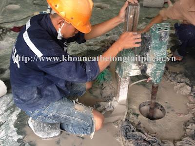 Khoan cắt bê tông tại huyện Thới Bình