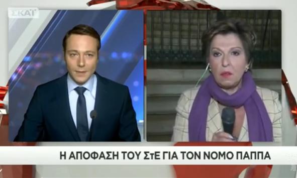 Η Ιωάννα Μάνδρου στον ΣΚΑΪ, περιέγραφε επακριβώς την απόφαση του ΣτΕ, τρεις ώρες (20:58) πριν την ανακοίνωσή της! (Βίντεο)
