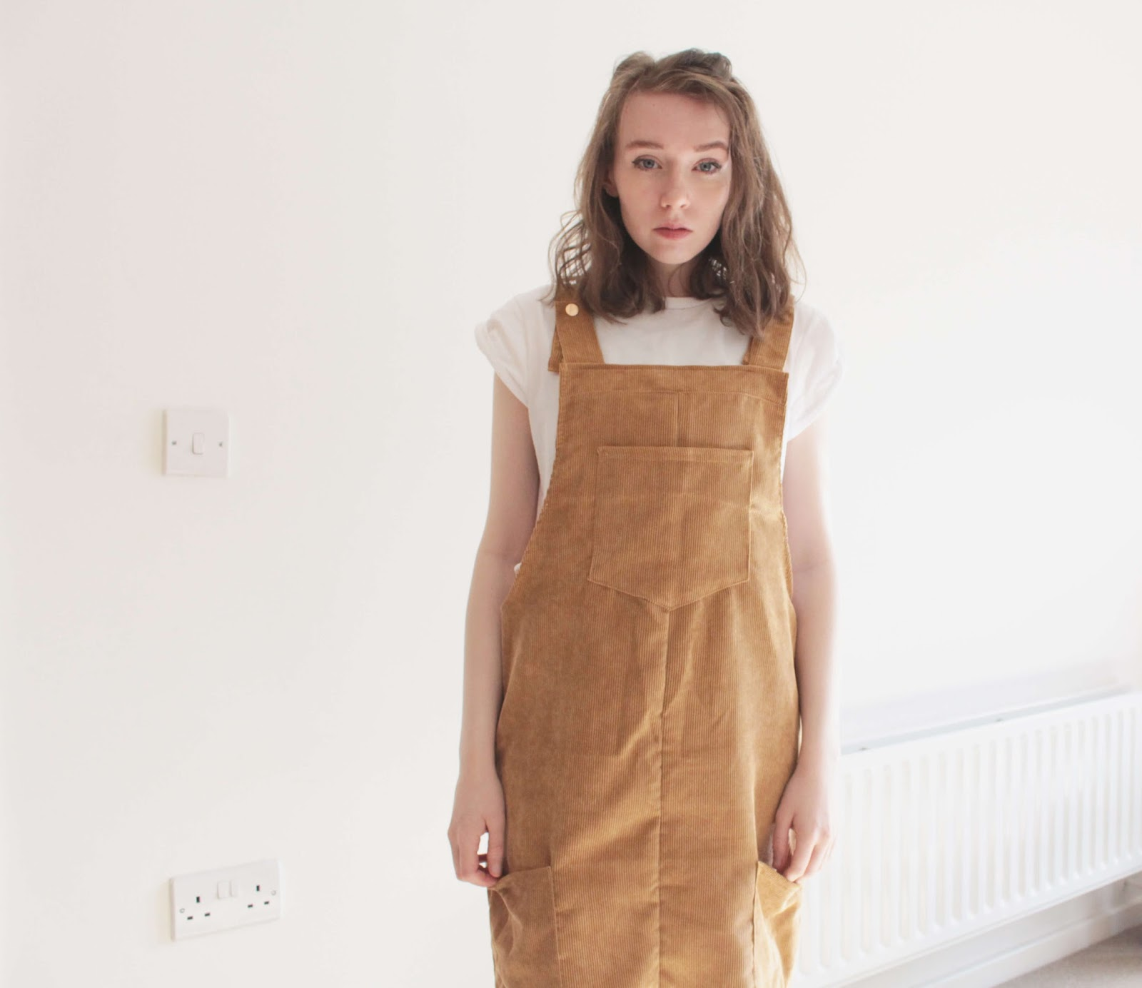 korean style oversized pinafore ootd ideas