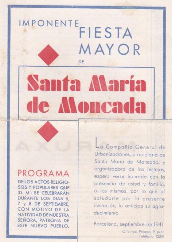 Montcada i reixac 194x alguns programes de festa major for Oficinas pelayo barcelona