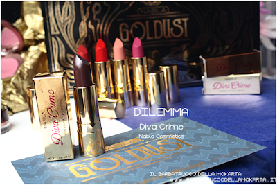 DILEMMA recensione diva crime goldust collection Nabla cosmetics