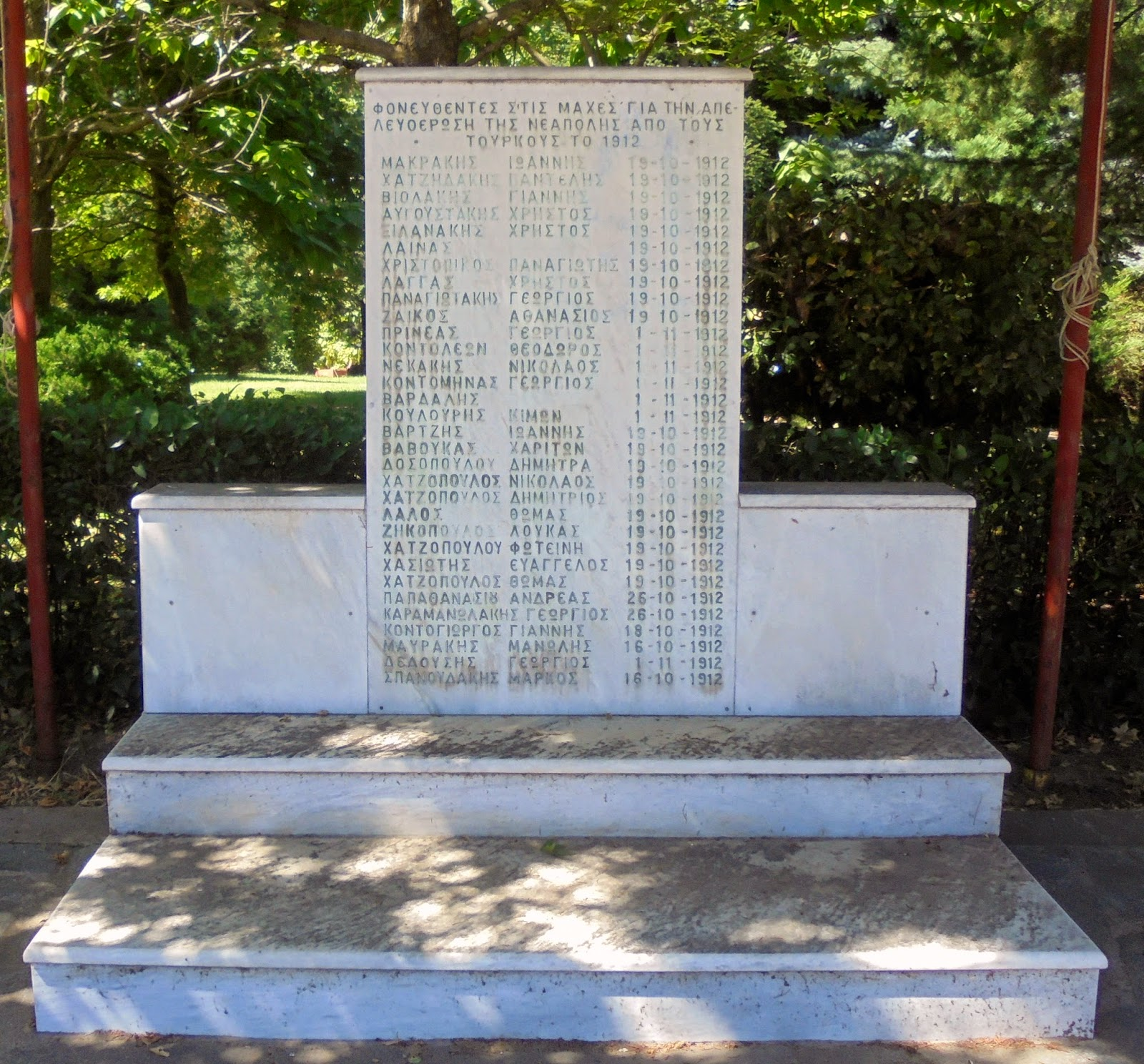 το μνημείο πεσόντων των Βαλκανικών Πολέμων στη Νεάπολη Βοΐου