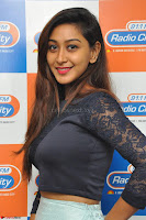 Shravya in skirt and tight top at Vana Villu Movie First Song launch at radio city 91.1 FM ~  Exclusive 26.JPG