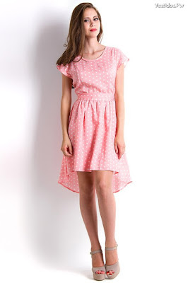 Vestidos de moda color rosa