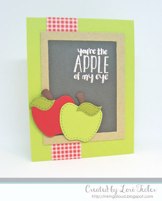 You're the Apple of My Eye card-designed by Lori Tecler/Inking Aloud-stamps and dies from Lil' Inker Designs