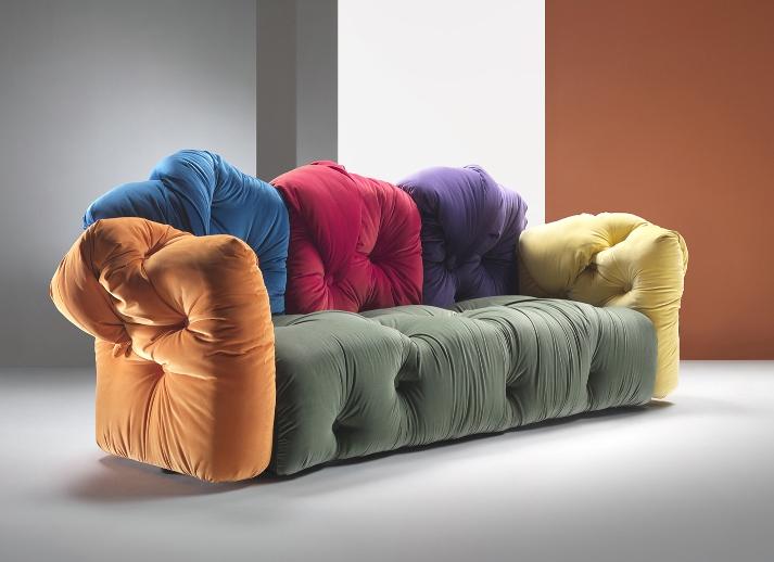 Antique & Italian Classic Furniture: Multi Colored Sofa ...