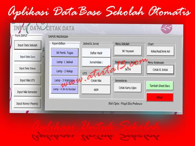 Download Aplikasi DataBase Sekolah Otomatis Format Excel SD/MI,SMP/MTs,SMA/MA