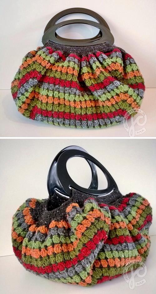 Crochet Bag, easy, granny square