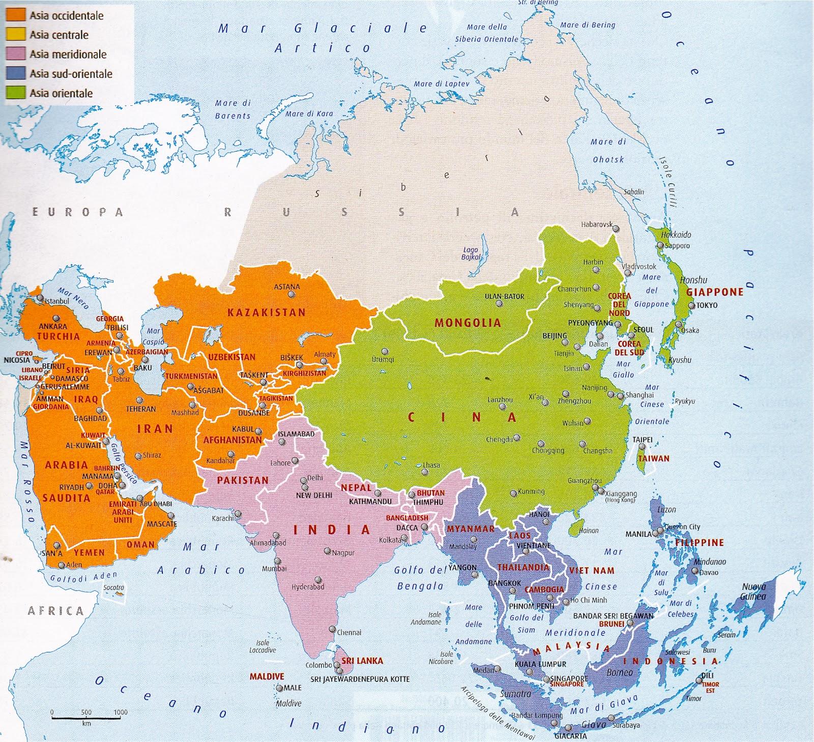 Cartina Dell Asia Orientale.Esabac Terminale Geografia L Asia Del Sud E Dell Est Documenti 1 2