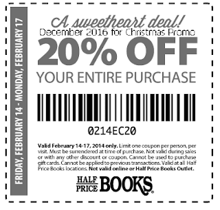 free Half Price Books coupons for december 2016