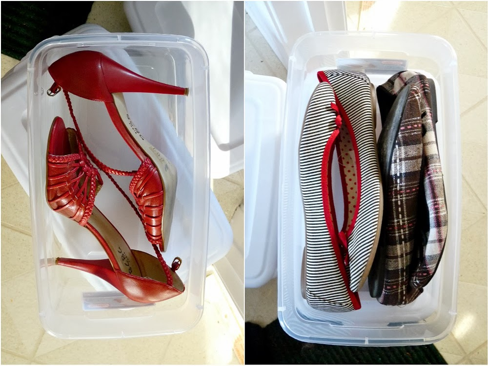 Affordable clear shoe storage bins