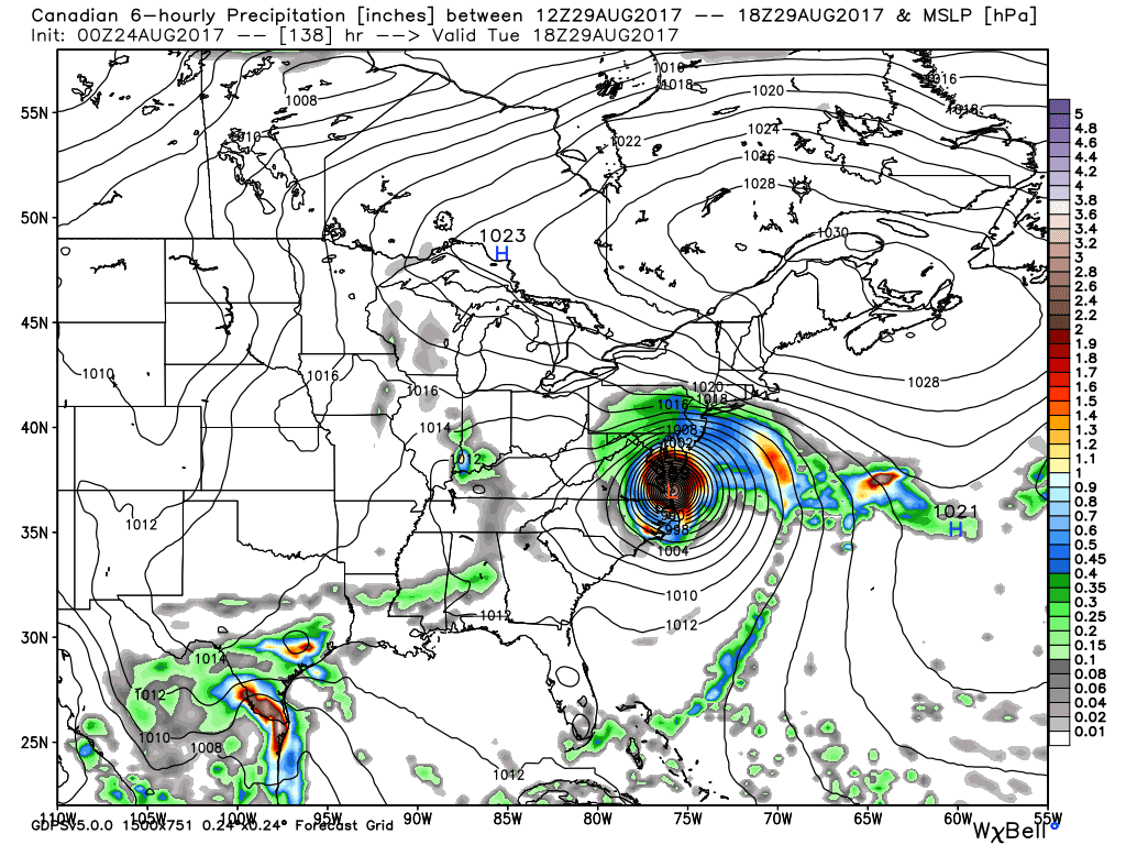 the above scenario would be a bit disconcerting for us here in the mid atlantic with that said the trend of the model is now to keep it further away and