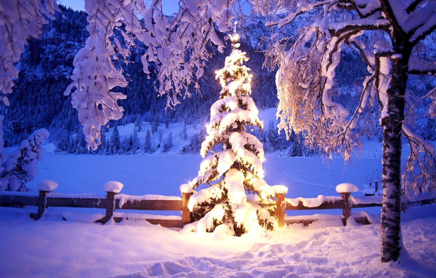 Beautiful Christmas Winter Scenes Wallpaper | Wallpapers Design