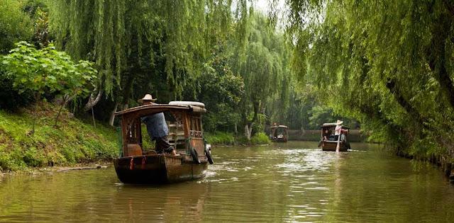 Shuzhou en barca