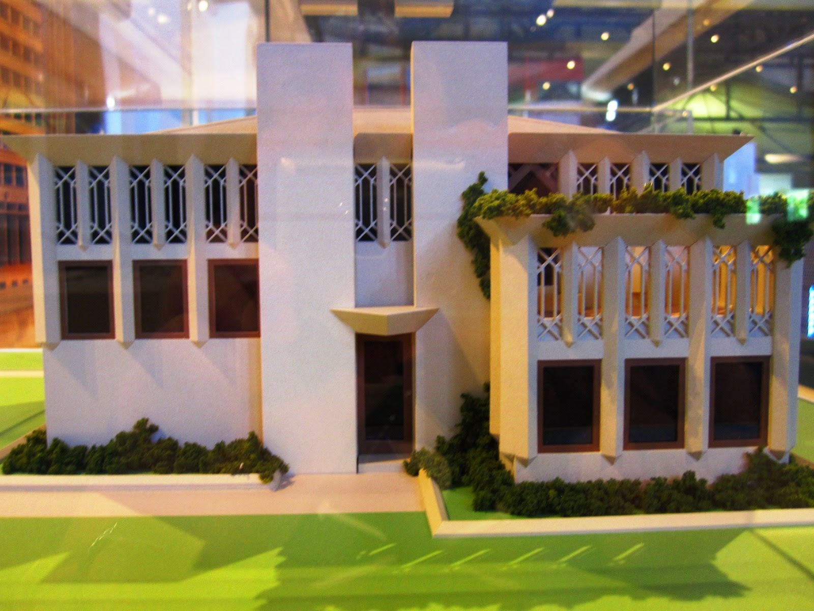 Model of 'Own house', designed by Walter Burley and Marion Mahony Griffin.