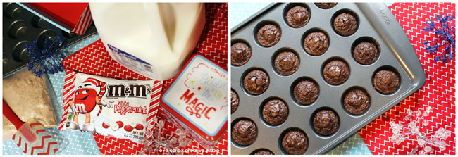 ingredients needed for peppermint brownie mini whoopie pies