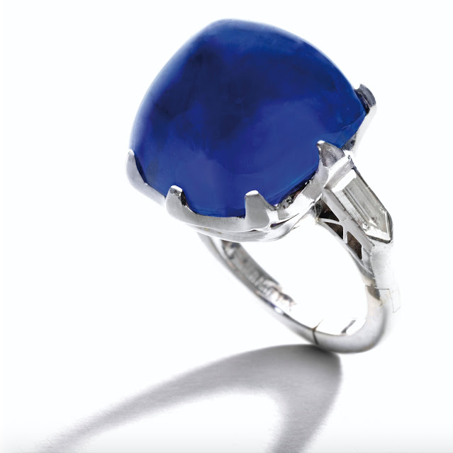 Exceptional Kashmir Sapphire Cabochon set in Platinum Valued at over $3.5 Million