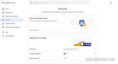 Setting Keamanan Akun Google