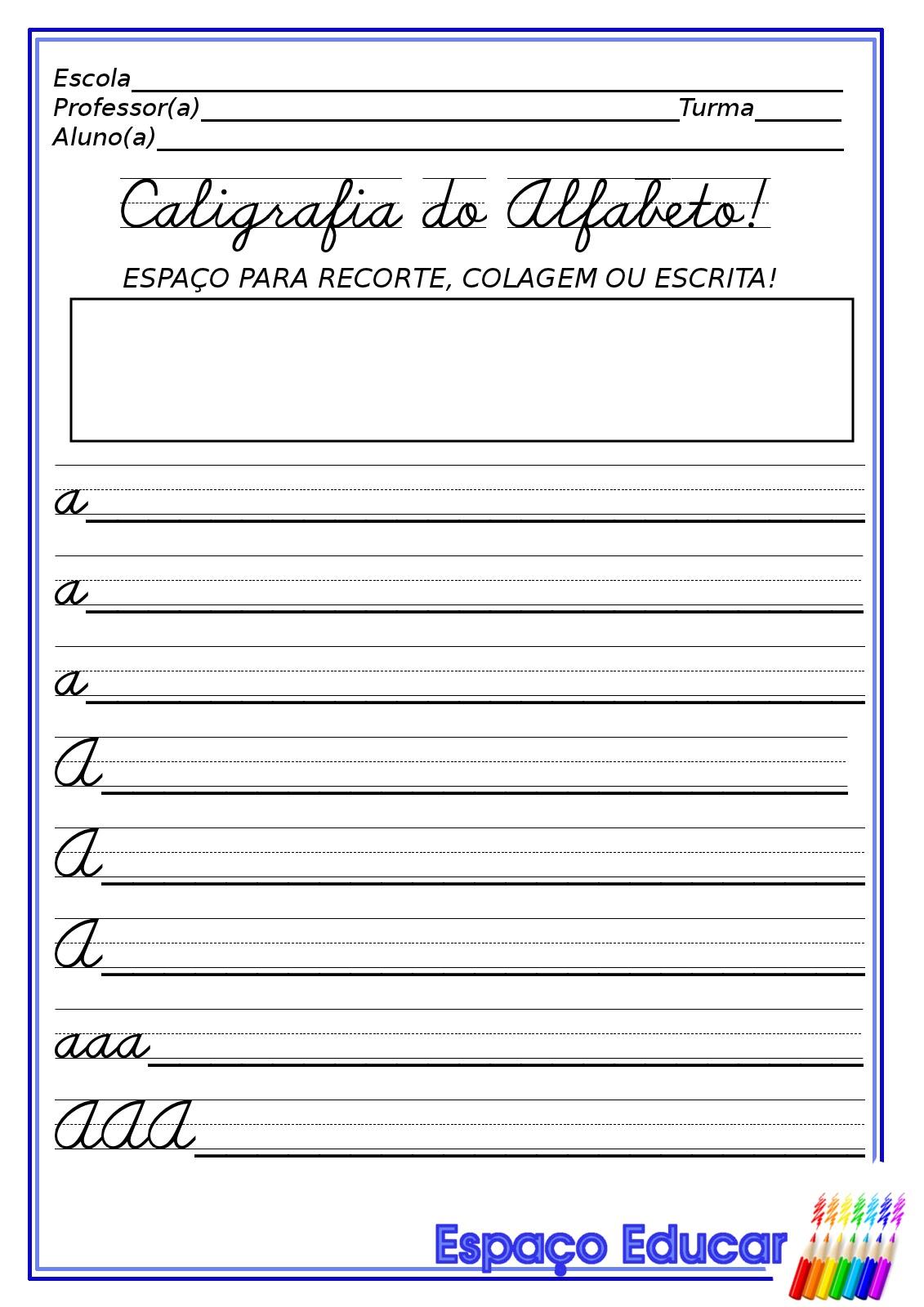 Blog Professor Zezinho Atividades De Caligrafia Do Alfabeto Para