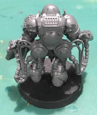 Deathwatch Primaris Aggressors WIP with flamestorm gauntlets back
